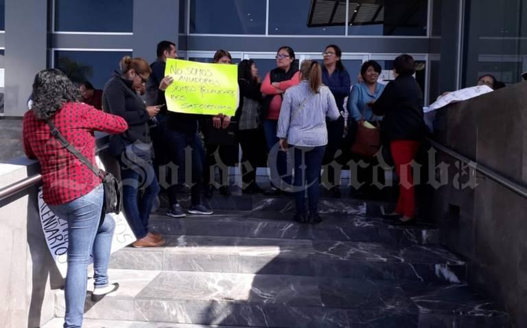 Protestan Trabajadores Del Módulo Del Sat El Sol De Orizaba